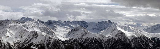 Snowy mountains panorama Stock Images