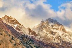 Snowy Mountains, Parque Nacional Los Glaciares, Patagonia - Arge. Patagonia landscape scene with big snowy andes mountains as main subject, Parque Nacional Los Royalty Free Stock Image