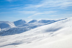 Snowy mountains Stock Image