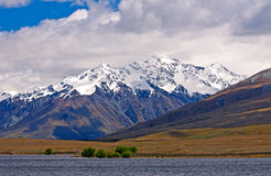 Snowy Mountains on a Spring Day Stock Image