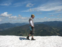 Snowy mountains in the summer Royalty Free Stock Photography