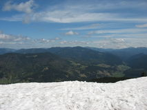 Snowy mountains in the summer Royalty Free Stock Images