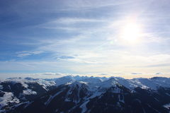Snowy mountains. On a sunny day Royalty Free Stock Photo