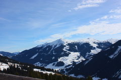 Snowy mountains. On a sunny day Stock Photography