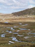 The Snowy mountains  at Thredbo. A pattern of creeks in the Snowy mountains above the village Thredbo near Jindabyne in New South Wales in Australia Royalty Free Stock Photography