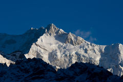 Snowy mountains of Tibet. Royalty Free Stock Image