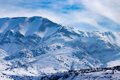 Snowy mountains of Tien Shan in winter Royalty Free Stock Images