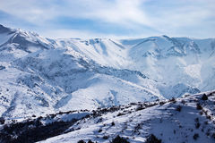 Snowy mountains of Tien Shan in winter Royalty Free Stock Image