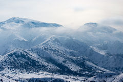 Snowy mountains of Tien Shan in winter Royalty Free Stock Photos