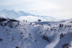Snowy mountains of Tien Shan in winter Stock Image