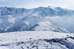 Snowy mountains of Tien Shan in winter Stock Photography