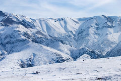 Snowy mountains of Tien Shan in winter Stock Photos