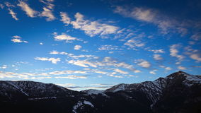 Snowy Mountains Time-Lapse stock video