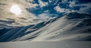 Snowy Mountains Timelapse 4k stock video footage