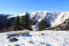 Snowy mountains of Vosges. The massif of Vosges in winter Royalty Free Stock Images