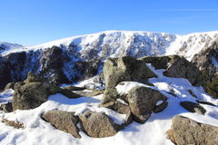 Snowy mountains of Vosges. The massif of Vosges in winter Stock Images