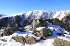 Snowy mountains of Vosges. The massif of Vosges in winter Royalty Free Stock Photography