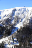 Snowy mountains of Vosges. The massif of Vosges in winter Stock Photos