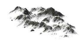 Snowy Mountains on white background Royalty Free Stock Photography