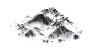 Snowy Mountains on white background Stock Photo