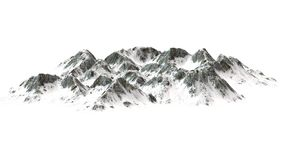 Snowy Mountains on white background Stock Images
