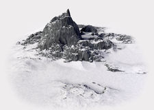 Snowy mountains. Winter landscape. isolate 3d render Royalty Free Stock Images