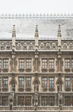Snowy Munich City Hall Royalty Free Stock Photos