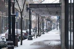 Snowy-Nachmittag Stockfoto