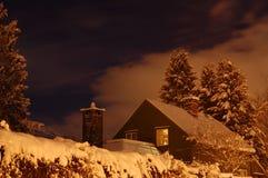 Snowy-Nacht Stockfoto