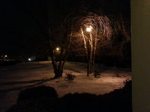 Snowy-Nacht Stockbild