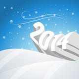 Snowy new year. Vector snowy happy new year 3d style design Royalty Free Stock Photos