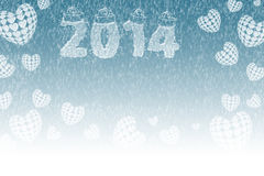 Snowy New Year Stock Photo