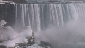 Snowy Niagara falls. Video of snowy Niagara falls stock video footage