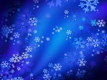 Snowy night. Christmas snow blue card background snowflakes celebration stock illustration