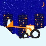 Snowy night Royalty Free Stock Image