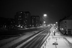 Snowy night Royalty Free Stock Photography