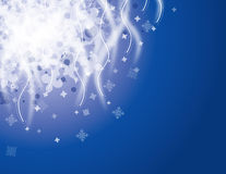 Snowy night holiday vector background. Royalty Free Stock Images