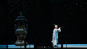 "Snowy night-Shanxi Operatic""Fu Shan to Beijing"" stock video"