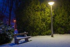 Snowy-Park Stockbilder