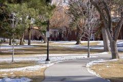 Snowy-Park, Fahnenmast, AZ lizenzfreies stockfoto