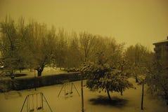 Snowy-Park lizenzfreies stockfoto