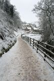 Snowy Path Royalty Free Stock Images