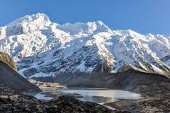 Snowy peak in Aoraki/Mount Cook National Park, New Zealand Stock Photography
