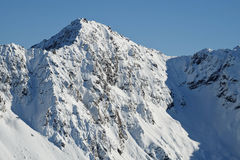 The Snowy Peak of Mt Lancelot Viewed From Avalanche Peak. Stock Images