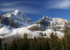 Snowy peak in the Rockies Royalty Free Stock Photos