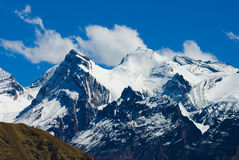 Snowy peaks. In tibet india Royalty Free Stock Photos