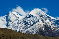 Snowy peaks. In tibet india Royalty Free Stock Photography