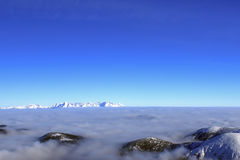 Snowy peaks. Above the clouds Tatras Slovakia Stock Photo