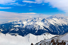 Snowy peaks of the Alps Royalty Free Stock Image
