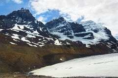Snowy peaks of the Canadian Rockies. Ascent to the top of the snowy peaks of the Canadian Rockies Stock Photo
